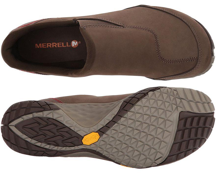 Suela y upper de los mocasines minimalistas Merrell Parkway Moc