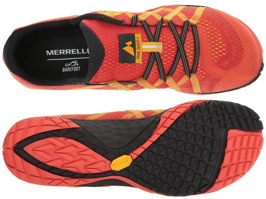 Suela y puntera de las zapatillas Merrell Trail Glove 4 E-Mesh