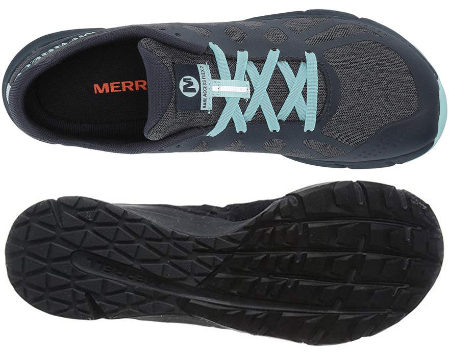 Suela y upper de las Merrell Bare Access Flex 2 de mujer