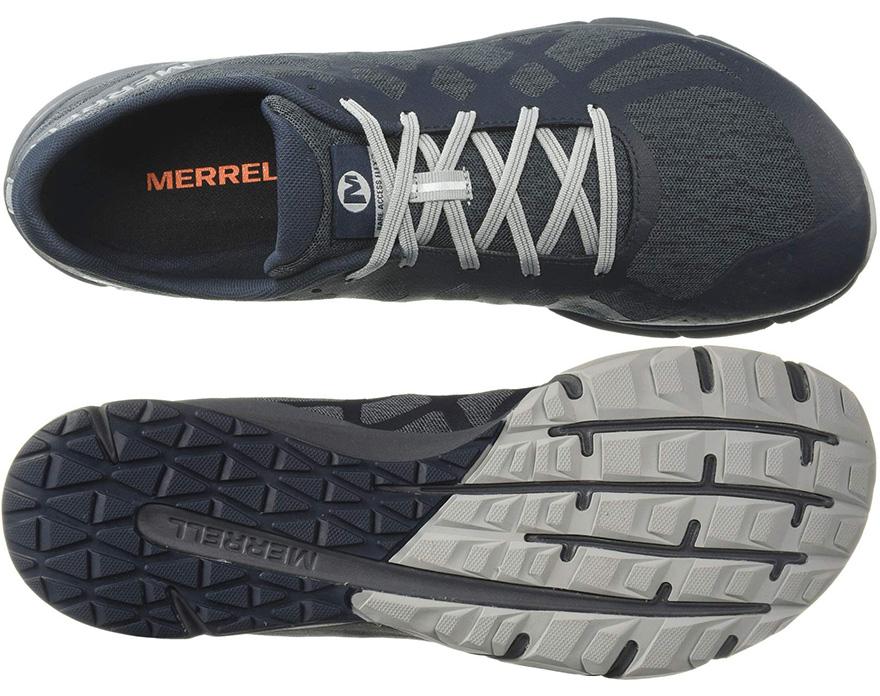Upper y suela de las zapatillas Merrell Bare Access Flex 2