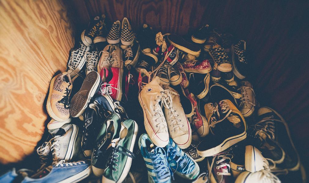 Montón de zapatillas