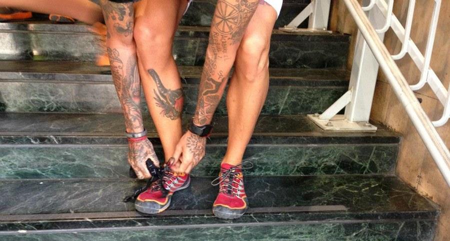 Josef Ajram y Merrell Trail Glove