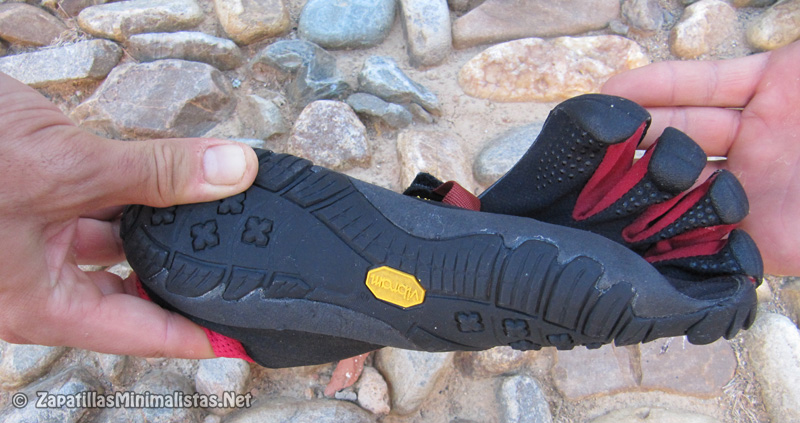 Torsión de una zapatilla