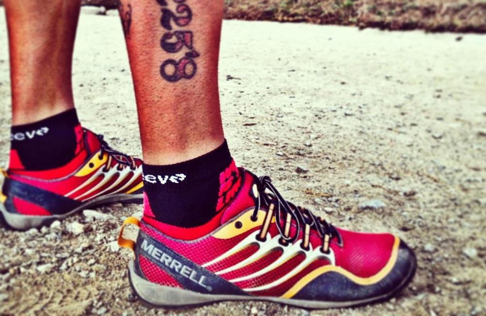 Josef Ajram con Merrell Trail Glove