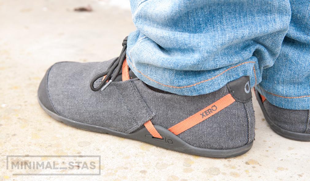 Vista lateral zapatos Xero Shoes