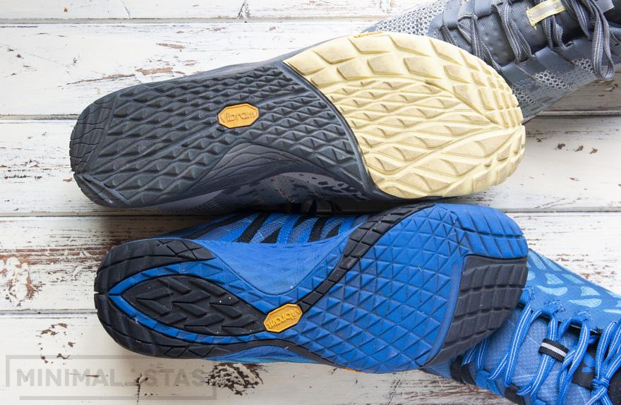Comparativa suela Trail Glove 4 vs Trail Glove 5