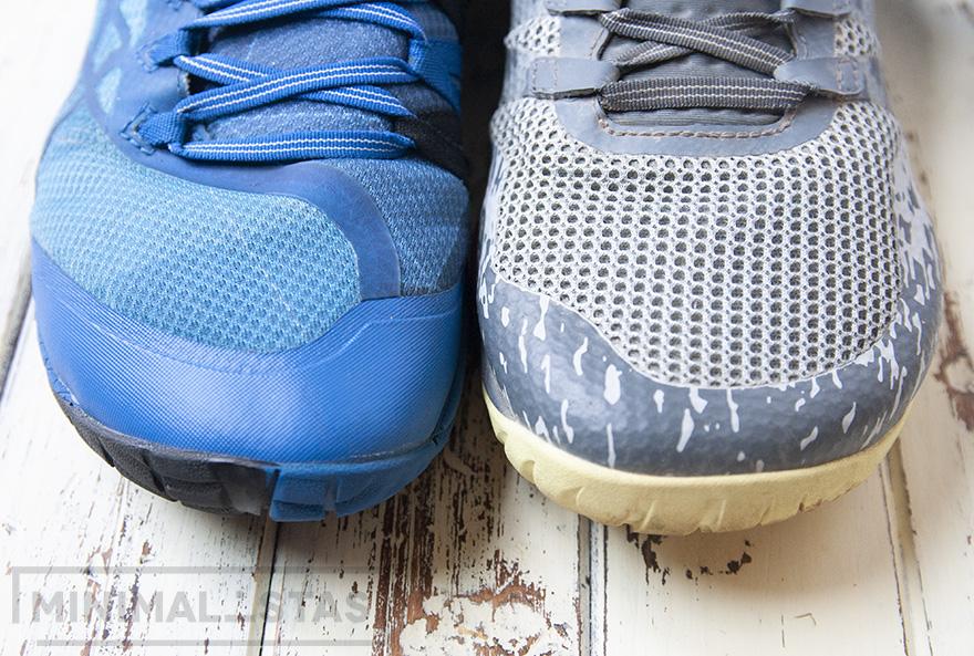 Comparativa tejido Merrell Trail Glove 4 y Trail Glove 5